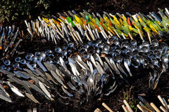 Charlecote Park cutlery sculpture Stock Images
