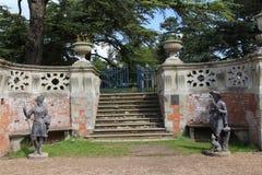 Charlecote Park. Garden Figures, Warwickshire, England Royalty Free Stock Photos