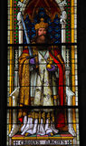 Charlemagne. Church window in the Dom of Cologne, Germany, depicting Charlemagne, King of the Franks from 768 and Emperor of the Romans (Imperator Romanorum) Royalty Free Stock Photography