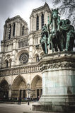 Charlemagne in Notre Dame , Paris France. Equestrian statue of Charlemagne in Notre Dame cathedral Paris France Royalty Free Stock Images