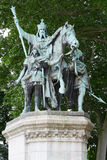 Charlemagne statue in Paris. Near Notre Dame Royalty Free Stock Image