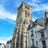 Charlemagne tower in the city of Tours, France. Charlemagne tower (remaining of medieval basilica) at in the old center of the city of Tours. Val de Loire Stock Image