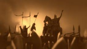 Charlemagne z Jego Masywnym wojskiem royalty ilustracja