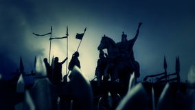 Charlemagne z Jego Masywnym wojskiem ilustracja wektor