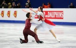 Charlene GUIGNARD / Marco FABBRI (ITA) Royalty Free Stock Photo