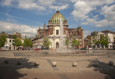 Charleroi town centre fountain Royalty Free Stock Images