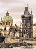 Charles överbryggar i Prague Royaltyfri Bild