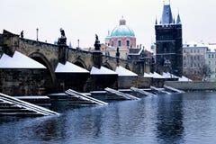 Charles överbryggar i Prague Fotografering för Bildbyråer
