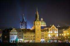 Charles överbryggar, Prague Arkivbild