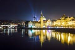 Charles överbryggar, Prague Arkivfoto