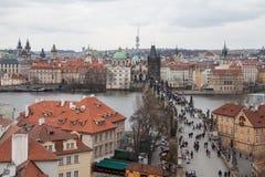 Charles överbryggar, Prague Arkivbilder