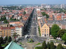 Charles-πεντάδα λεωφόρων στις Βρυξέλλες Στοκ εικόνα με δικαίωμα ελεύθερης χρήσης