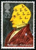 Charles Babbage UK Postage Stamp Stock Photo