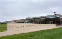 Charles Benson Bear Recreation Center op de campus van Grinell C Royalty-vrije Stock Fotografie