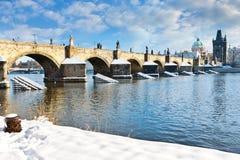 Charles-Brücke, alte Stadt, Prag (UNESCO), Tschechische Republik Stockfotografie
