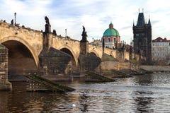 Charles-Brücke Karluv höchst, Prag, Tschechische Republik lizenzfreies stockfoto