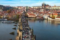 Charles-Brücke Karluv höchst, Prag, Tschechische Republik stockfotografie