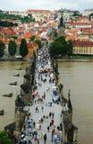 Charles-Brücke, Prag Stockfotografie