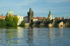 Charles-Brücke in Prag Stockbild