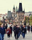 Charles-Brücke Prag Stockfotografie