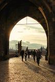 Charles-Brücke, Prag, Tschechische Republik Stockfotos