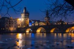 Charles-Brücke in Prag, Tschechische Republik Lizenzfreies Stockfoto