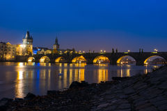 Charles-Brücke in Prag, Tschechische Republik Lizenzfreie Stockbilder