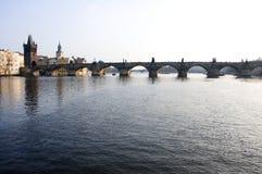 Charles-Brücke in Prag, Tschechische Republik Lizenzfreies Stockbild