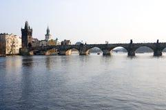 Charles-Brücke in Prag, Tschechische Republik Stockbild