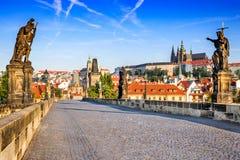 Charles-Brücke, Prag, Tschechische Republik stockbild