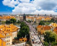 Charles-Brücken-Prag-Tschechische Republik Lizenzfreies Stockbild