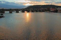 Charles-Brücken-Prag-Tschechische Republik Stockfotografie