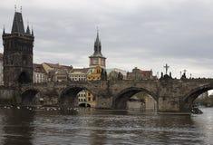 Charles Bridge à Prague Images libres de droits