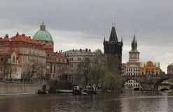 Charles Bridge à Prague Photos libres de droits