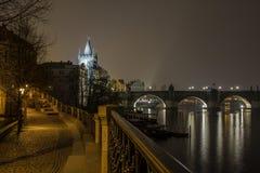 Charles Bridge, Δημοκρατία της Τσεχίας Πράγα Στοκ φωτογραφία με δικαίωμα ελεύθερης χρήσης