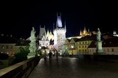 The Charles Bridge Royalty Free Stock Photos