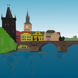 Charles Bridge stock illustration