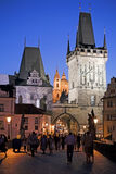 Charles bridge. View of the Charles bridge in Prague Royalty Free Stock Images