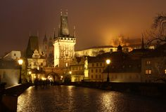 On the Charles bridge Royalty Free Stock Images