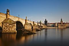 Charles bridge. In Prague in Czech Republic Royalty Free Stock Photo