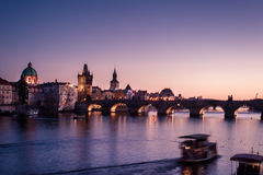 Charles Bridge Stock Foto's