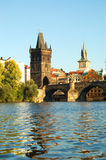 Charles bridge. View of the Charles Bridge in Prague City Royalty Free Stock Photo