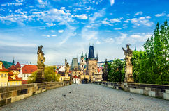 Charles Bridge And Mala Strana Stock Images