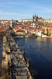 Charles bridge and castle in P Stock Images