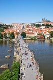 Charles bridge and castle of Prague Stock Photography
