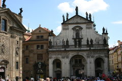 Charles Bridge_church of the holiest Salvator Royalty Free Stock Photos