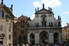 Charles Bridge_church of the holiest Salvator Royalty Free Stock Photos