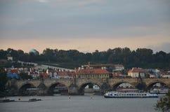 Charles bridge!!. City of Prague in Czech republic Royalty Free Stock Photos
