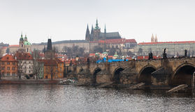 Charles bridge. Cityscape of Prague. Stock Images