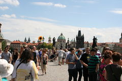 Charles Bridge _crowds_VI Royalty Free Stock Photography